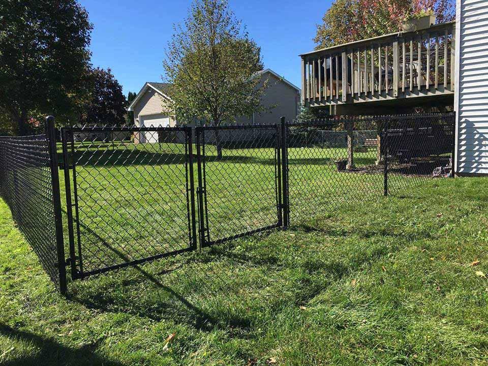 4 Black Chain Link Fences