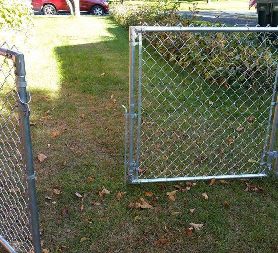 4 Galvanized Double Drive Walk Gate
