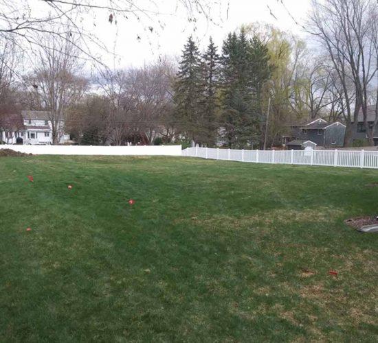 Regency White Picket Fencing