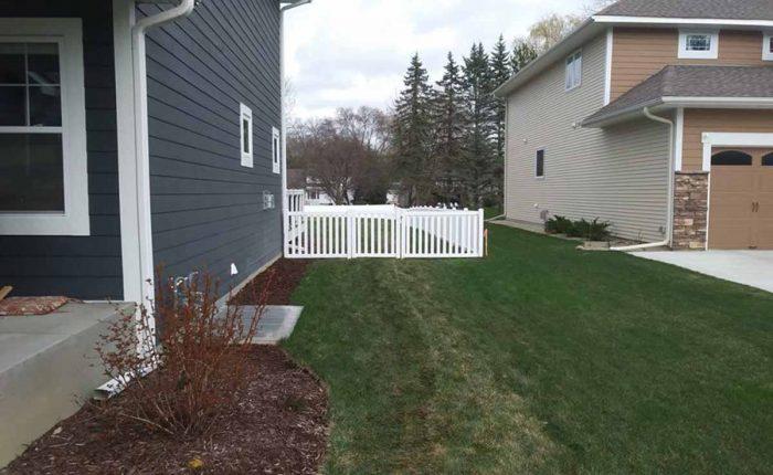 Walk Gate Regency White Vinyl Fence Installation