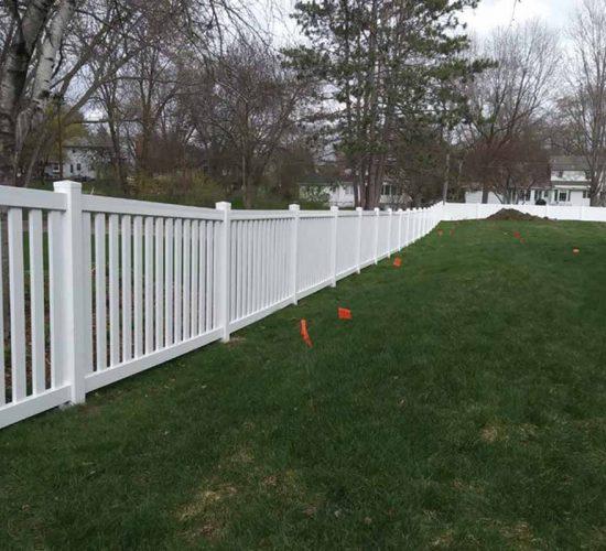 White Vinyl Closed Picket Fence