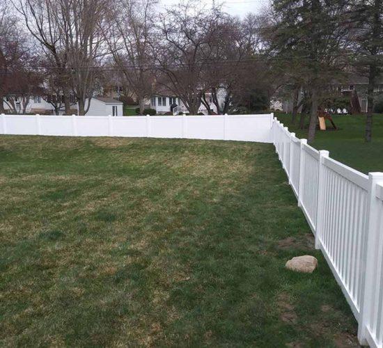 White Vinyl Picket Fence Installation Mn