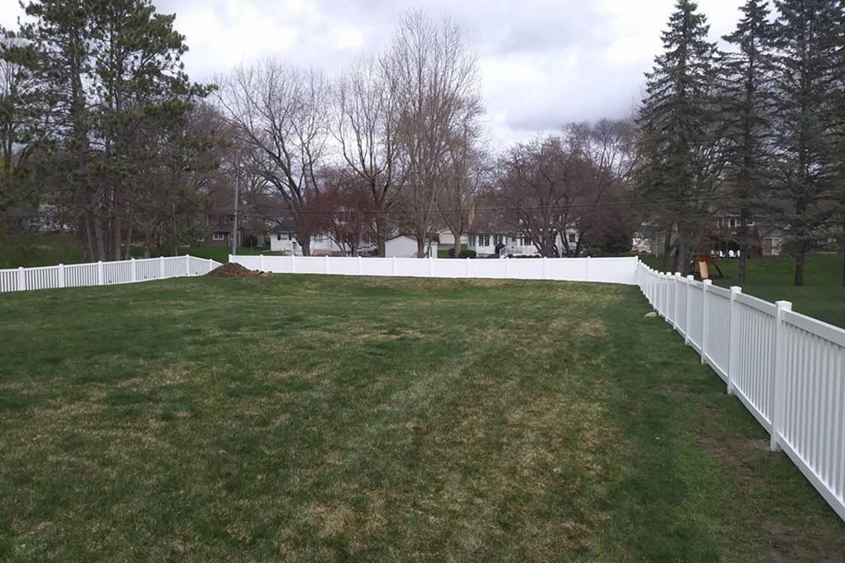 White Vinyl Regency And Privacy Fence