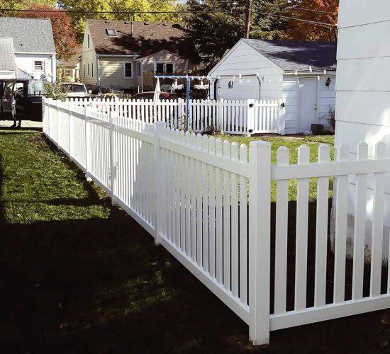 Dog Eared Vinyl Picket Fence Installs Mn