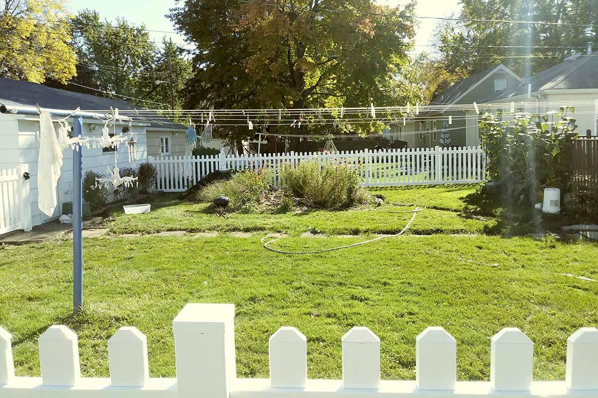 White Vinyl Picket Fence Installation