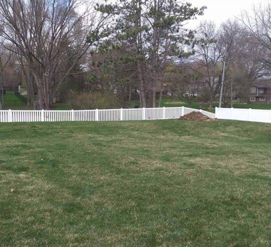 White Vinyl Regency Picket Fence