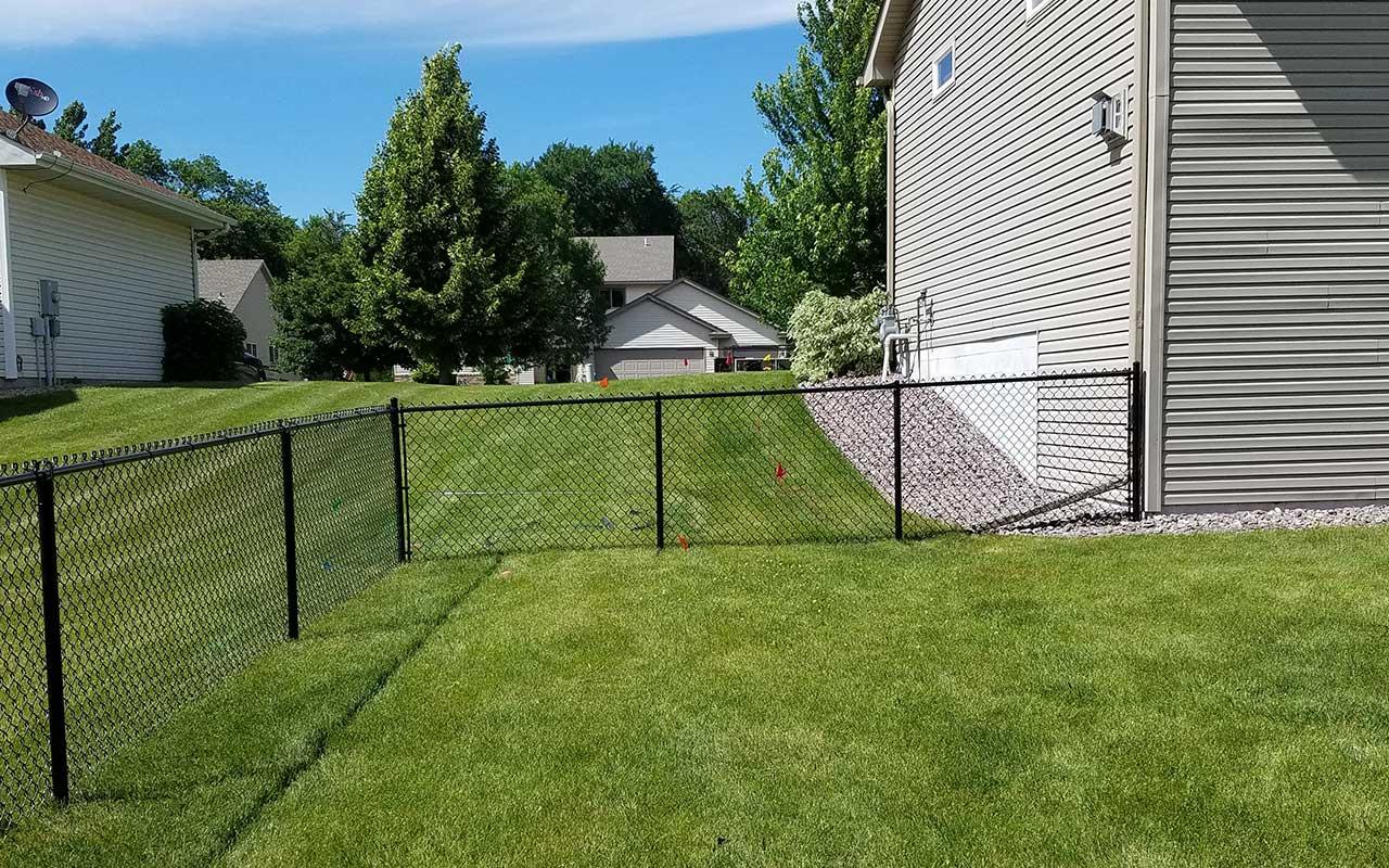 4 Black Chain Link Fence Installation Mn