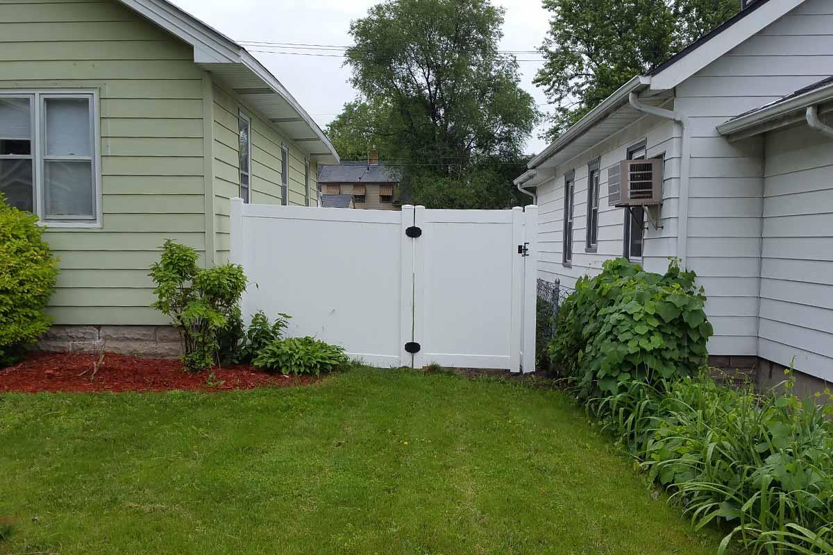 6 White Vinyl Privacy Fence Walk Gate