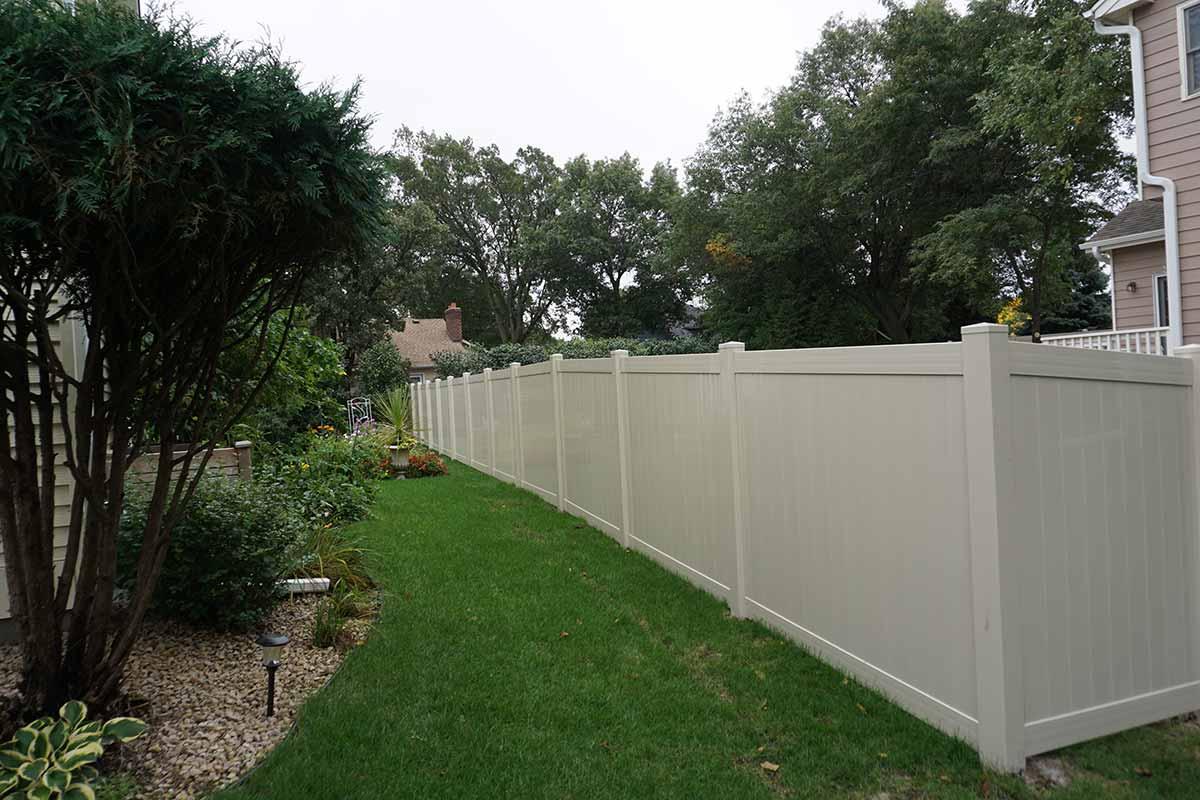 72 Tan Privacy Fencing Minnesota