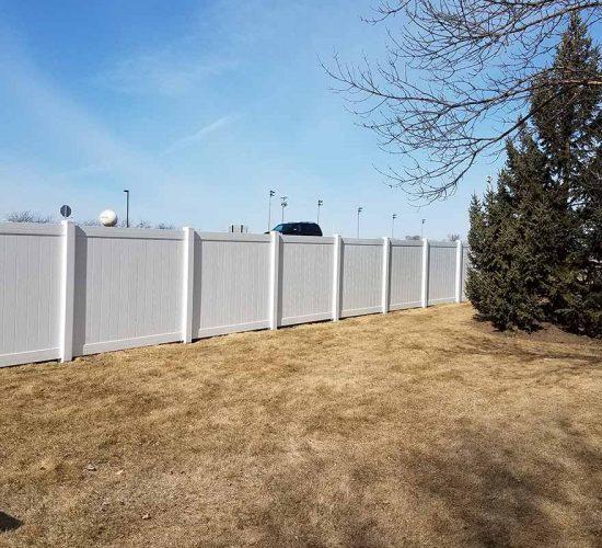 72 White Vinyl Privacy Fence Mn