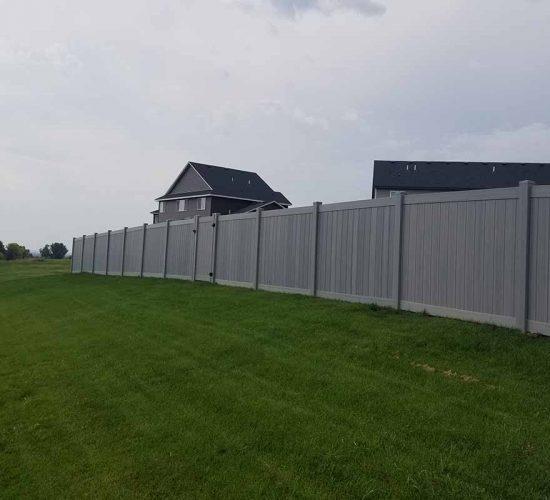 Aged Cedar Vinyl Privacy Fence Chaska, Mn