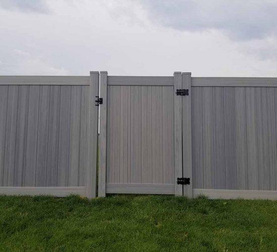 Aged Cedar Vinyl Privacy Fence