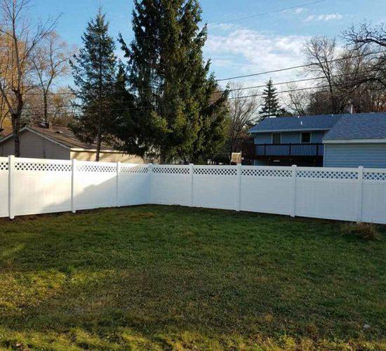 Lattice Vinyl Fence Installation