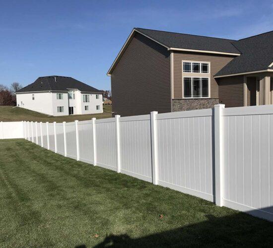 White Vinyl Privacy Fence Minnesota 12